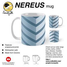00 'Nereus' Mug by Escarpatte NEREUS coffee mug, for sale through Redbubble Isometric Art, Blue Chevron, Decorative Objects, Coffee Mugs, Cool Designs, Ceramics, Tableware, Prints, Zero