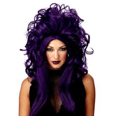 Wig Sorceress Black Purple $10.90 - Women Costumes