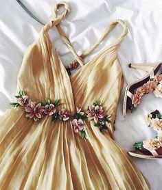 Custom made A-line backless long prom dress, evening dress