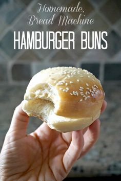 Homemade Bread Machine Hamburger Buns: Pull out a few simple ingredients and wow your family with this bread machine hamburger bun recipe!