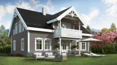 Kongsheim Merlin Home, Building Foundation, Wooden Facade, Old Houses, Shed, House Ideas, Real Estate, Outdoor Structures, Cabin