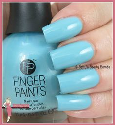 http://www.bettysbeautybombs.com/2015/04/28/fingerpaints-swatches-a-couple-of-blues/ / FingerPaints Tiffany Imposter