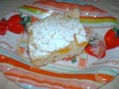 Vše smícháme na řídší těsto, vylijeme na vymazaný a vysypaný plech (já dala na pečící papír), poklademe ovocem a nakonec posypeme drobenkou,... Dairy, Cheese, Cake, Sweet, Food, Candy, Kuchen, Essen, Meals