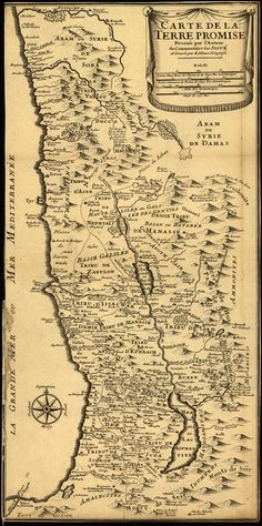 Map of Palestine from 1720