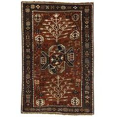 Antique Caucasian Tree Kazak Rug | From a unique collection of antique and modern caucasian rugs at https://www.1stdibs.com/furniture/rugs-carpets/caucasian-rugs/