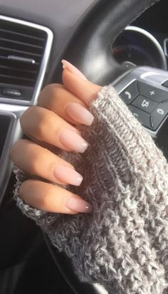French Fade With Nude And White Ombre Acrylic Nails Coffin Nails - - Acrylic Nails Coffin Short, Simple Acrylic Nails, Best Acrylic Nails, Simple Nails, Natural Acrylic Nails, Summer Acrylic Nails, Cute Nails, Pretty Nails, Pink Nails