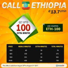 Call To Ethiopia By Calling Cards Phone From Usa Canada