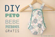 DIY, patrones, ropa de bebe y mucho más para coser.: DIY Peto PELELE de bebe (patrones gratis)