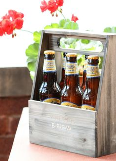 wooden bottle holder | father's day | gifts for him | @Michael Wurm, Jr. | inspiredbycharm.com