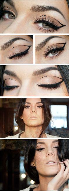 Pocahontas by Linda Hallberg crazy eyeliner, neutral, party look Daily Makeup, Love Makeup, Makeup Inspo, Makeup Art, Makeup Inspiration, Makeup Tips, Beauty Makeup, Makeup Looks, Makeup Blog