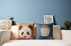 Hey, I found this really awesome Etsy listing at https://www.etsy.com/listing/167671463/home-pillow-cover-panda-and-owl-pattern