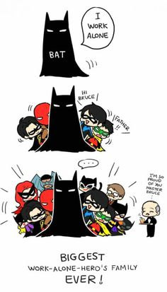 Geek Discover Batman works alone (other than the Robins and Catwoman and Batgirl and Alfred Humor Batman Funny Batman Nananana Batman Univers Dc Tim Drake Dc Memes Batman Robin Batman And Batgirl Lego Batman Catwoman, Batgirl, Nightwing, Univers Dc, Dc Memes, Batman Robin, Batman Arkham, Batman Art, Batman Poster