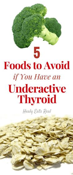Foods to Avoid for an Underactive Thyroid Diet