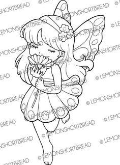Digital Stamp Fairy Flower Scent Digi stamp von lemonshortbread