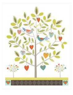 CbyC Studio Original - Tree of Life - Heart & Birds  2 - Limited Edition Print, via Etsy.
