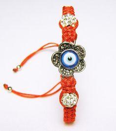 Bracelet braided red thread handmade от HappyWomanGifts на Etsy