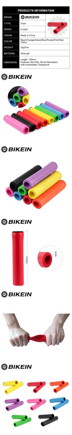 BIKEIN Cycling Mountain Bike Soft Handlebar Grips Ultralight Bar Ends High Density Silicone Sponge MTB Grip Bicycle Parts 25g