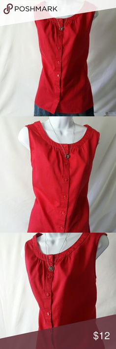 ❤ Van Heusen Blouse Women's Size L EUC Used in excellent condition. Color is like magenta but in the picture is the color looks different. 100% cotton. Very elegant and comfortable. ❤  Any other items in non-stock pictures are also for sale separately, please check my closet for availability. Reasonable offers are more than welcome. Remember to bundle up and save (10% additional discount in 3 items bundles, plus no additional shipping). Sorry but no trades.    Thanks for visiting! Van Heusen…