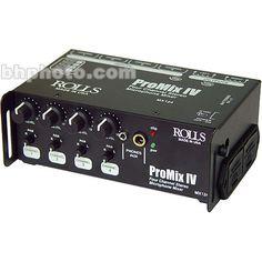 $137.95US +P Rolls MX124 portable mixer