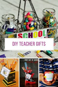 Loving these DIY teacher gift ideas! Diy Back To School, Back To School Teacher, School Life, Teacher Christmas Gifts, Homemade Christmas Gifts, Teacher Appreciation Gifts, Teacher Gifts, Teacher Gift Baskets, Diy Gifts For Dad