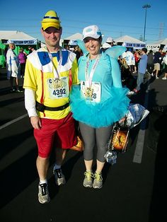 MouseInfo.com - Inside and In Depth: Tinker Bell Half Marathon 2013--Race Costumes Pinoccio and Blue Fairy