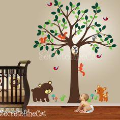 Nursery Wall Decal Wall Decals Nursery Tree And Koalas Decal - Baby wall decals