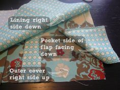 How to make a fabric notebook cover