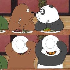The three bears 🧸❤ . Cute Panda Wallpaper, Bear Wallpaper, Emoji Wallpaper, Wallpaper Iphone Cute, Disney Wallpaper, We Bare Bears Wallpapers, Panda Wallpapers, Cute Cartoon Wallpapers, Ice Bear We Bare Bears