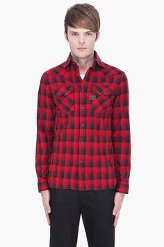 G-STAR red plaid Aero Cowboy Dungeon Shirt