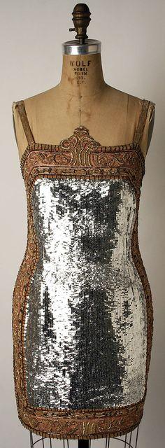 Todd Oldham - 1991 - Silk, various metal elements (silver, brass, copper, bronze, gold-plated metal), plastic dress - The Metropolitan Museum of Art