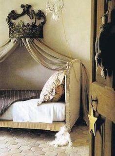 Canopy day bed! #Tuscan #Home #Design - Find More Decor Ideas at:  http://www.IrvineHomeBlog.com/HomeDecor/  ༺༺  ℭƘ ༻༻  and Pinterest Boards   - Christina Khandan - Irvine California