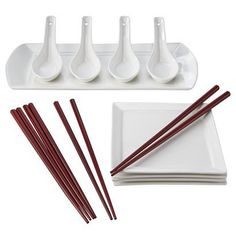 Aaron & @Heather Pan -  Porcelain Sushi Set - Service for 4