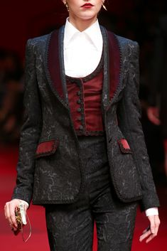"vampchronfic: "" runway-disease: "" D&G ss 2015 RTW "" I know Lestat has this outfit. No question. "" I need that blazer and waistcoat. NEED."