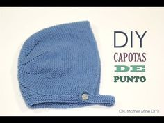 DIY Tejer: Cómo hacer capotas de punto para bebés | Manualidades Baby Hats Knitting, Knitting For Kids, Knitted Hats, Crochet Hats, All Free Crochet, Crochet For Boys, Knitting Videos, Crochet Videos, Tricot Baby