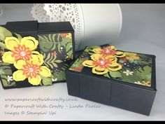 No Glue Gift Box - Exotic Flower Box using Botanical Builder Framelits - YouTube