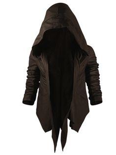 Hooded leather jacket makes me feel like I'm some kinda assassin :D