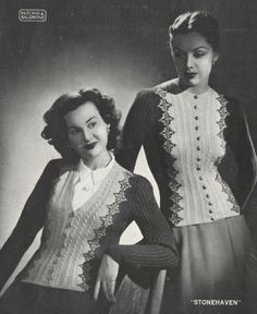 185e18faac233b The Vintage Pattern Files  Free 1940s Knitting Pattern - Women s Fair Isle  Sweaters Patons No
