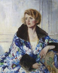 Portrait of Mrs R. Wemyss Honeyman, 1928 by James McBey (Scottish 1883-1959)