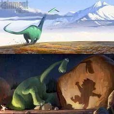 Concept art... The good dinosaur