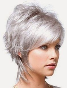 New Cute Short Haircuts. The world of hairstyling will never be complete without those cute short haircuts to embellish it. Grey Hair Styles For Women, Hair Styles 2014, Wig Styles, Curly Hair Styles, Haircut Styles, Plait Styles, Mullet Haircut, Natural Hair Styles, Cute Short Haircuts