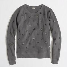 beaded sweatshirt / j.crew factory