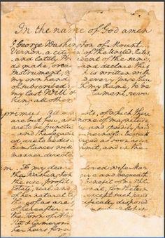 George Washington's Will·George Washington's Mount Vernon