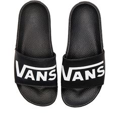 Vans Vans Slide-On ($40) ❤ liked on Polyvore featuring shoes, sandals, slip on sandals, slip-on shoes, vans footwear, rubber sole shoes and slip on shoes