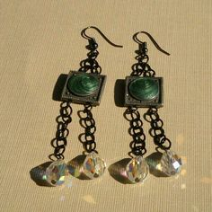 Earrings with beautiful crystals Sold
