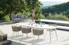 Aluminum Low back all-weather Woven rope Garden furniture dining set outdoor 6 seater with washable cushions Dining Furniture, Garden Furniture, Outdoor Furniture Sets, Dining Chairs, Balcony Chairs, Furniture Design, Dining Table, Outdoor Dining, Outdoor Spaces
