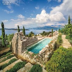 pool in Croatia - what a wonderful use of this ruined building.
