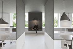 Oficinas en blanco y fieltro, por i29 l interior architects   diseño de interiores en casa