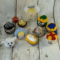 Free Knitting Patterns For Ferrero Rocher Covers A Knitting Pattern Pdf For A Mince Pie To Cover A Edible Christmas Gifts, Edible Gifts, Christmas Crafts, Christmas Decorations, Crochet Christmas, Christmas Ideas, Christmas Nativity Set, Merry Little Christmas, Christmas Angels