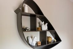 Metal bird shelf in Chicago nursery - contemporary - spaces - chicago - Design Inside - Chicago