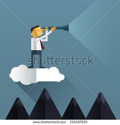stock-vector--businessman-looks-through-his-telescope-on-cloud-vision-business-concept-253497835.jpg (450×470)